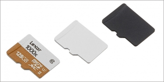 Micro SD Card Side Spray White Paint